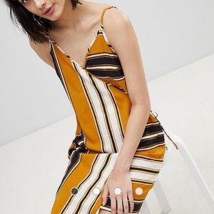 Striped River Island wrap sun dress